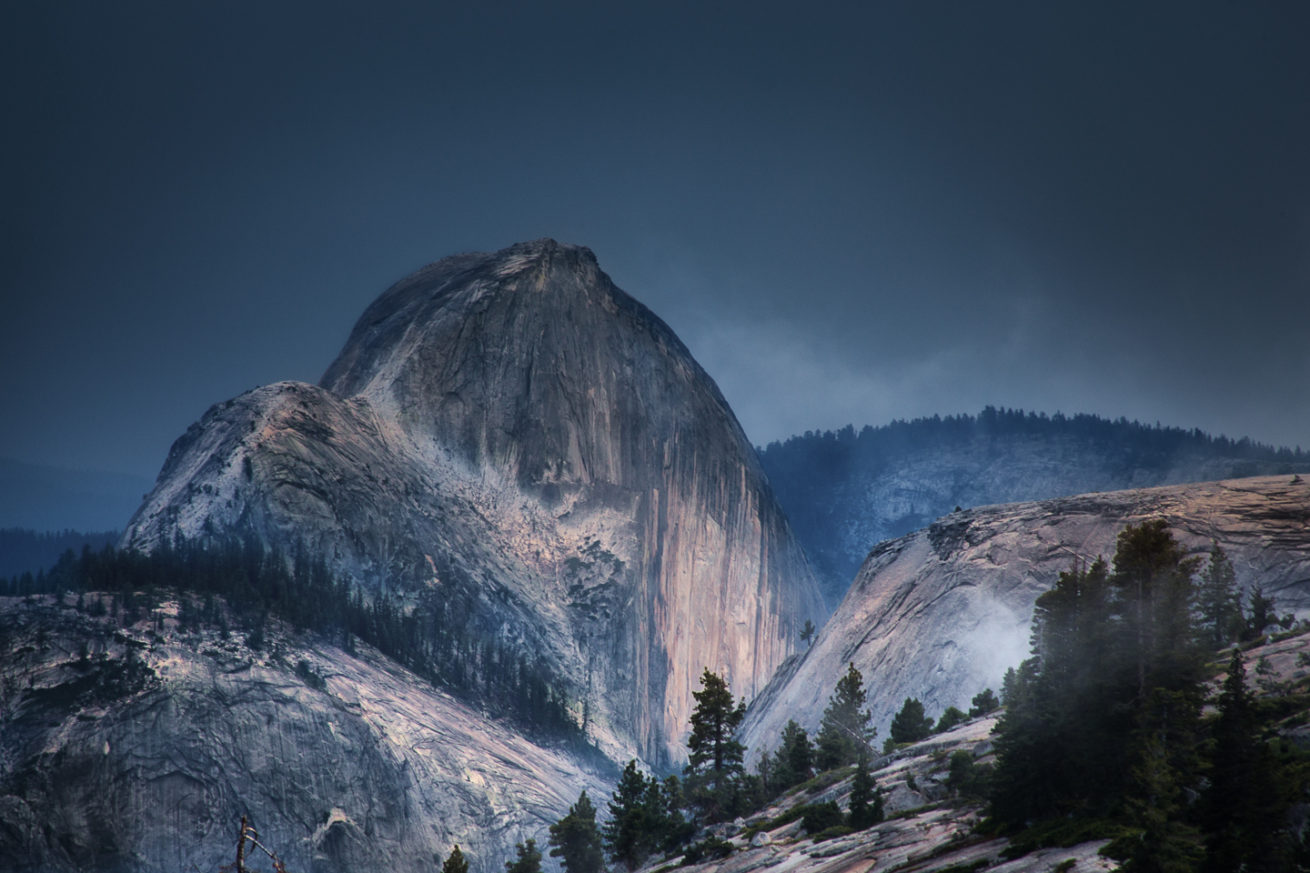 Half Dome in a Summer Storm