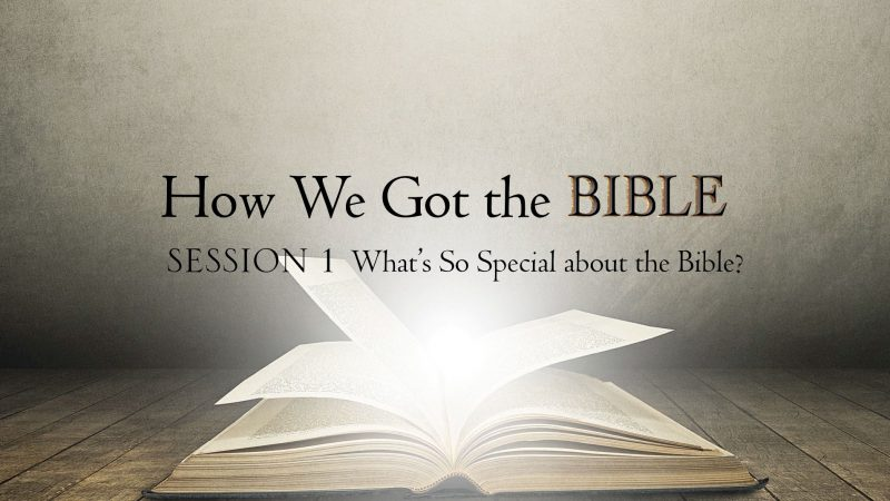 Title screen from How We Got the BIble