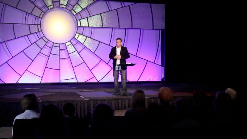 master shot of Pastor Shawn Barnard in Tabernacle video