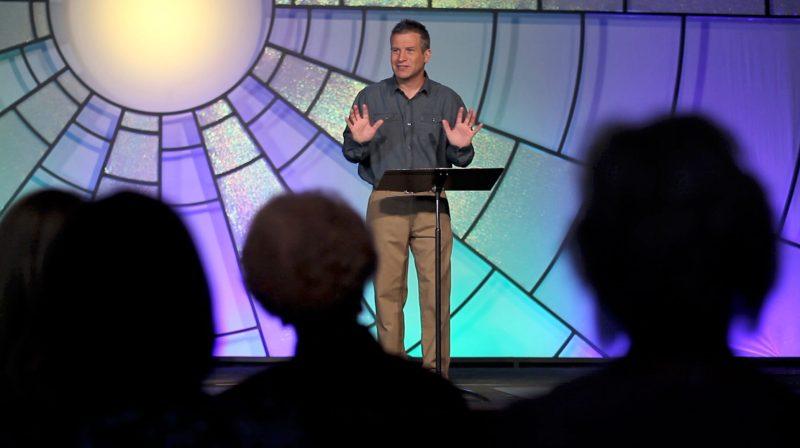Pastor Barnard sharing in Tabernacle video