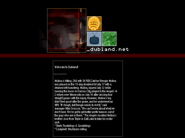 Dubland Flash Home Page (2002) screenshot