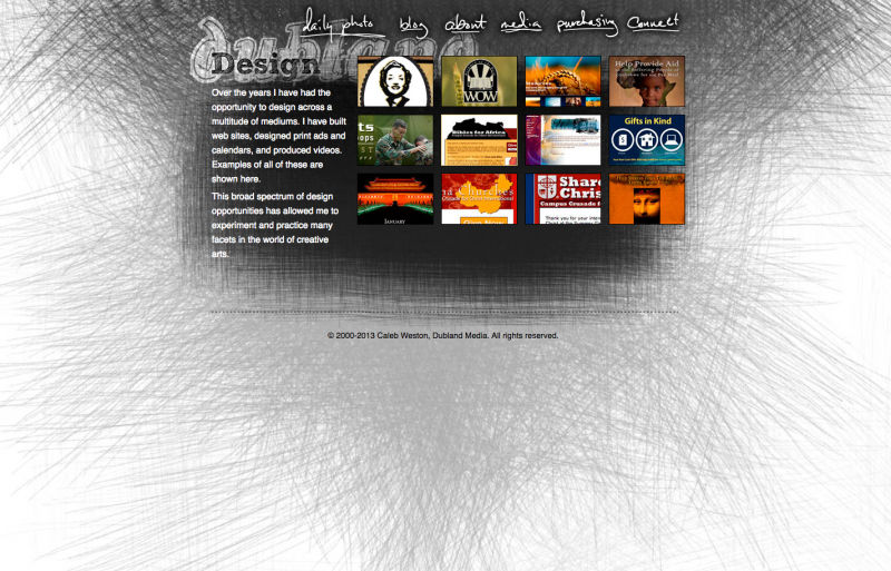 Dubland Media Page (2009-2012) screenshot