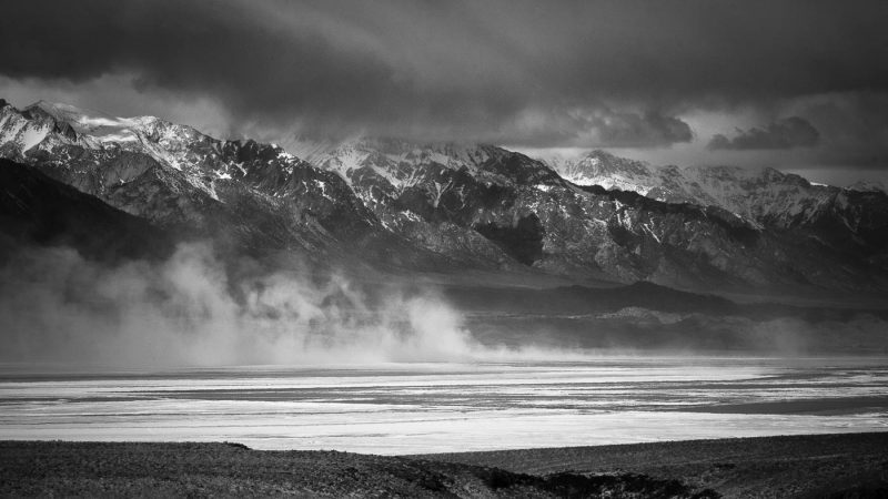 Winter Storm on Owens Lakebed