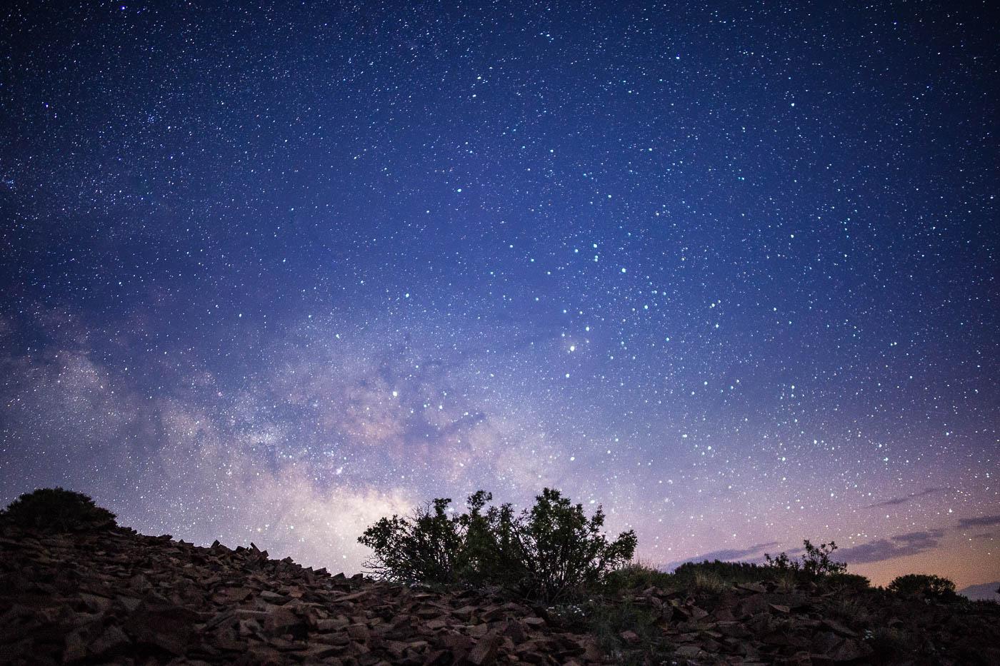 Starry Sky Over White Mountain