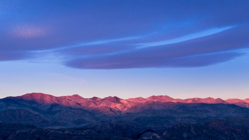 First Light on the Panamint Range, Death Valley National Park