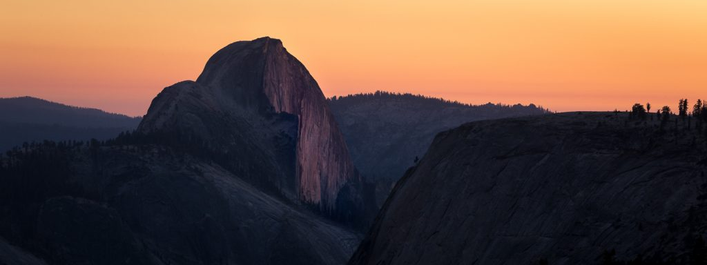Last Light on Half Dome, Yosemite NP