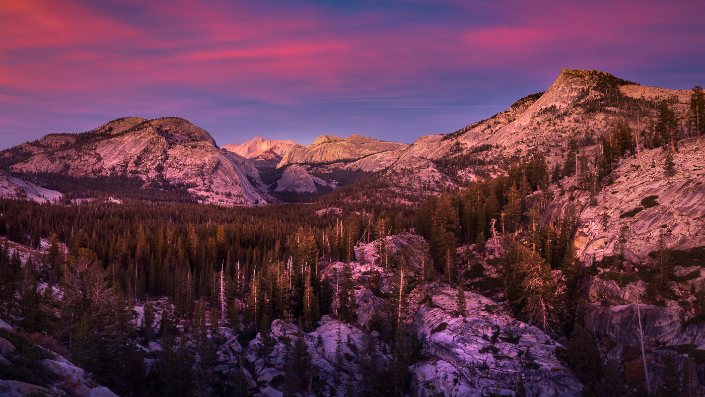 Sunset View at Olmsted Point, Yosemite National Park