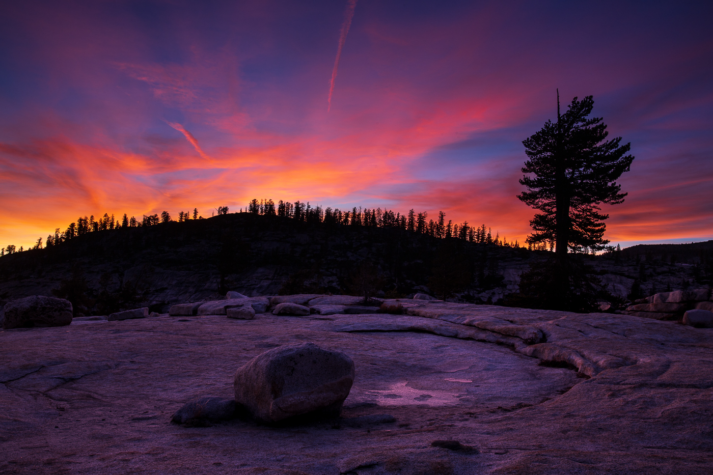 Sunset at Olmsted Point, Yosemite National Park