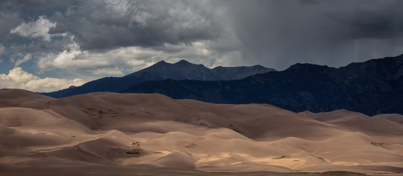 Summer Storm Passing Over Great Sand Dunes National Park